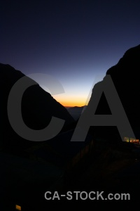 Valley annapurna sanctuary trek sunrise sunset asia.
