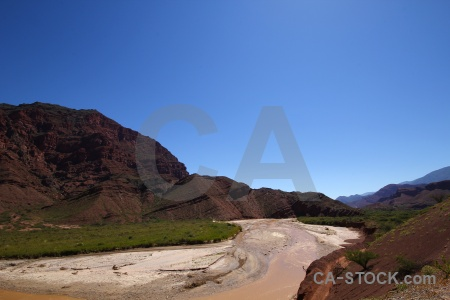 Valley argentina rock water landscape.