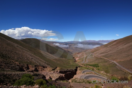 Valley cloud argentina andes altitude.