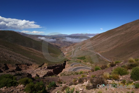 Valley cloud landscape salta tour mountain.