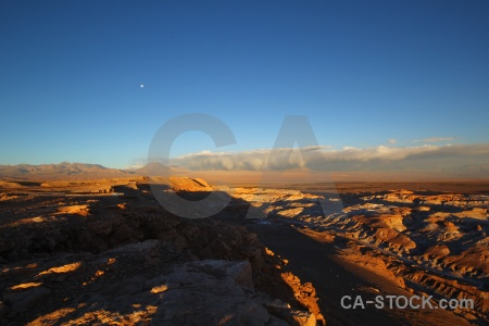 Valley of the moon atacama desert mountain landscape volcano.