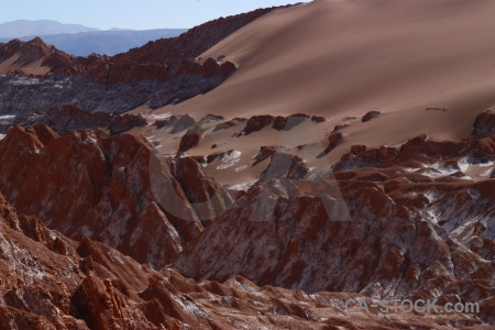 Valley of the moon mountain sand rock atacama desert.