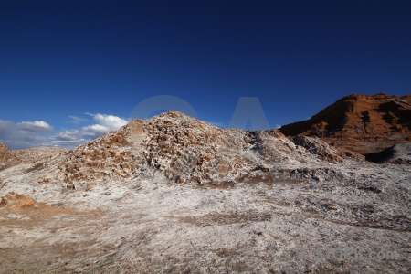 Valley of the moon rock atacama desert south america salt.