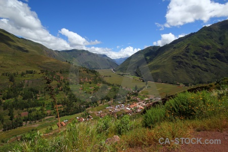 Valley sacred valley landscape peru andes.