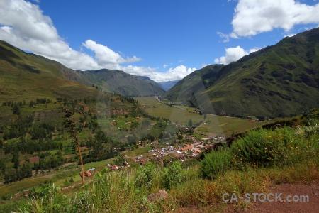 Valley sacred valley landscape peru andes.