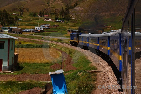 Vehicle andean explorer train peru track.