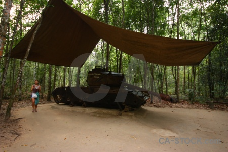 Vehicle ben dinh cu chi tunnels southeast asia war.