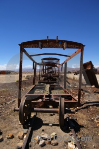 Vehicle bolivia train cemetery south america wreck.