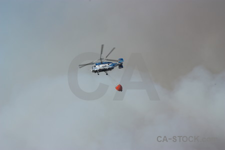 Vehicle firefighting montgo fire smoke spain.