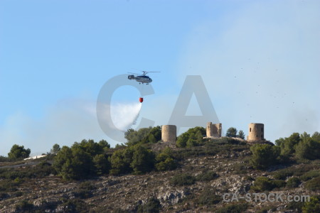 Vehicle firefighting spain montgo fire javea.
