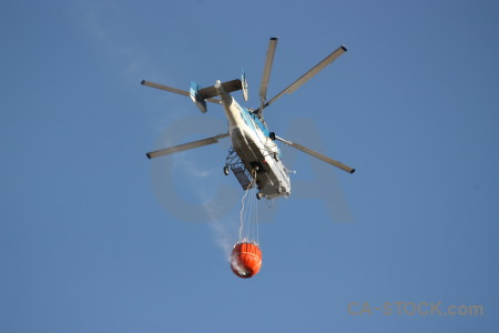 Vehicle helicopter javea montgo fire firefighting.