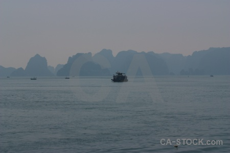Vehicle island water southeast asia vietnam.