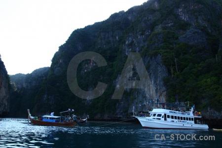 Vehicle ko phi leh limestone asia island.