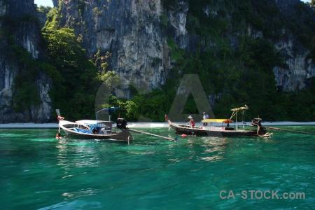Vehicle limestone mosquito island ruea hang yao southeast asia.