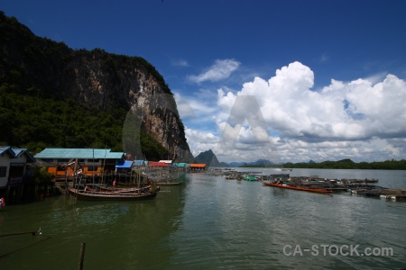 Vehicle phang nga bay sky cloud island.