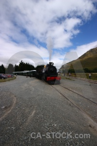 Vehicle railway train kingston flyer south island.