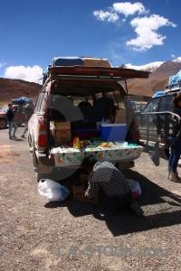 Vehicle sky bolivia car altitude.