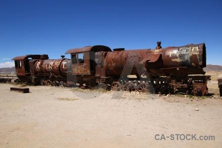 Vehicle sky train south america bolivia.