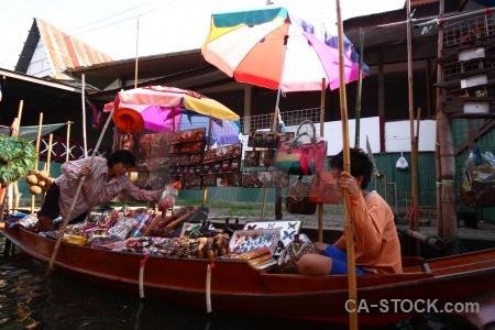 Vehicle water thailand asia damnoen saduak.