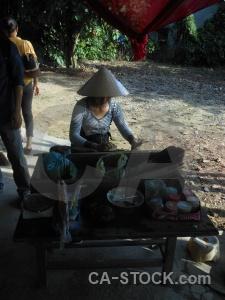 Vietnam asia joss stick hue hat.