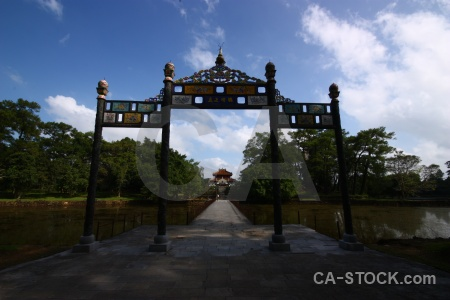 Vietnam asia pillar tree step.