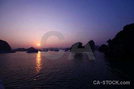 Vietnam island water sky sunrise.
