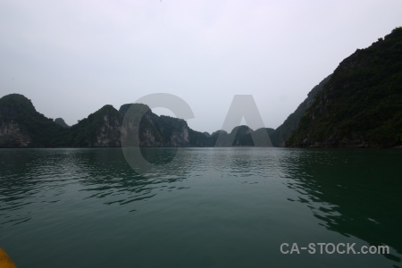 Vietnam limestone sea sky ha long bay.