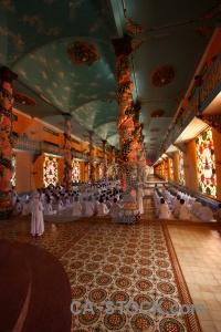 Vietnam pillar hall tay ninh religion.
