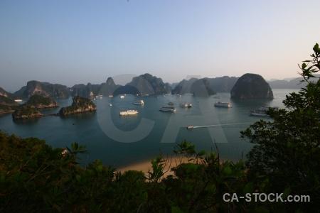 Vietnam sky cliff water ha long bay.