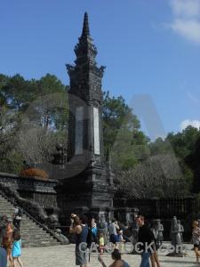 Vietnam tomb asia sky statue.