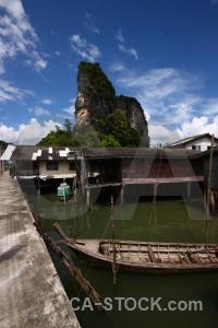 Village koh panyee boat cloud building.