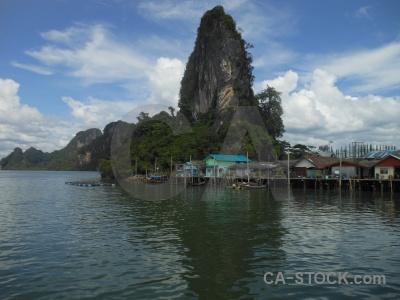 Village koh panyee sea sky thailand.