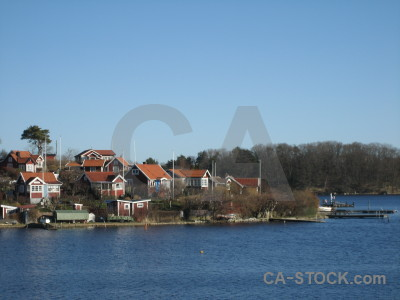 Village sweden building coast europe.
