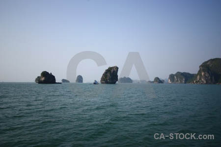 Vinh ha long southeast asia limestone island bay.