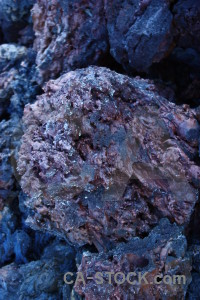 Volcanic blue texture purple rock.
