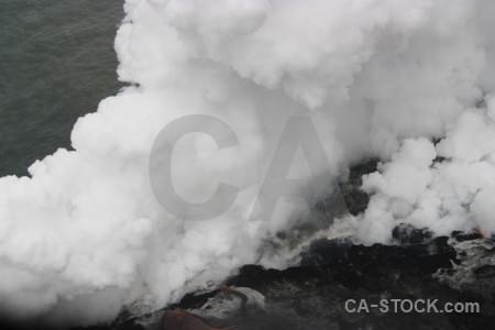 Volcanic gray lava.