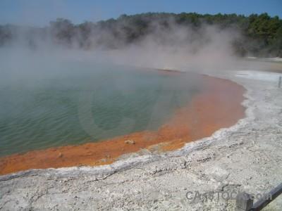 Volcanic lake water.