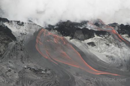 Volcanic lava gray white.