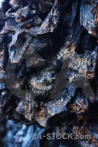 Volcanic lava texture rock blue.