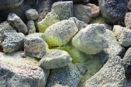 Volcanic rock green.