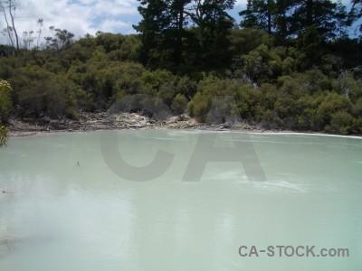 Volcanic water lake.