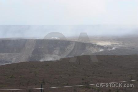 Volcanic white crater landscape.