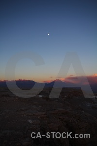 Volcano atacama desert landscape moon sky.