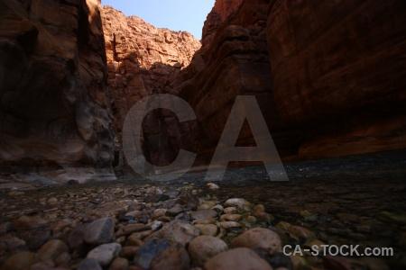 Wadi jordan canyon stone river.