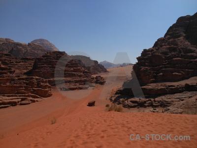 Wadi rum asia dune mountain western.