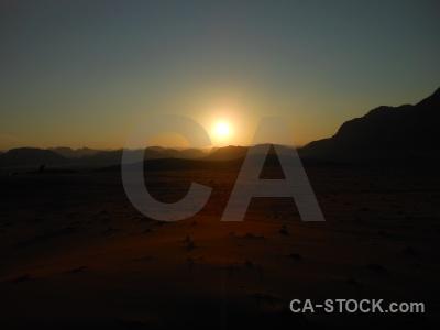 Wadi rum desert sky middle east sun.
