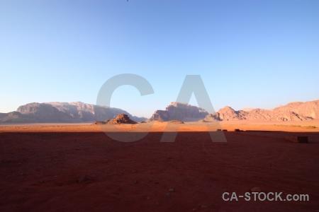 Wadi rum desert sky sand mountain.