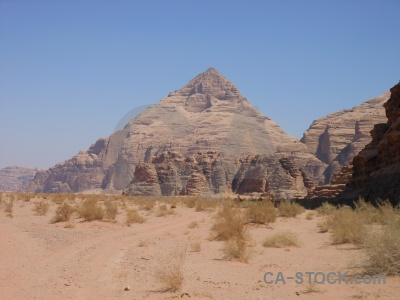 Wadi rum pyramid jordan mountain rock.