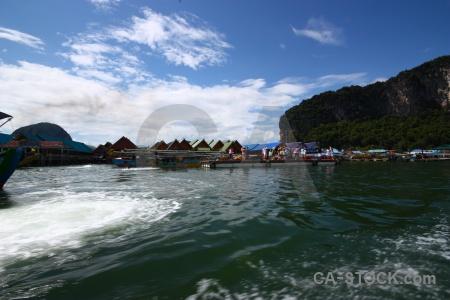Wake cloud sea thailand asia.