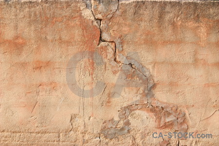 Wall brown crack plaster texture.